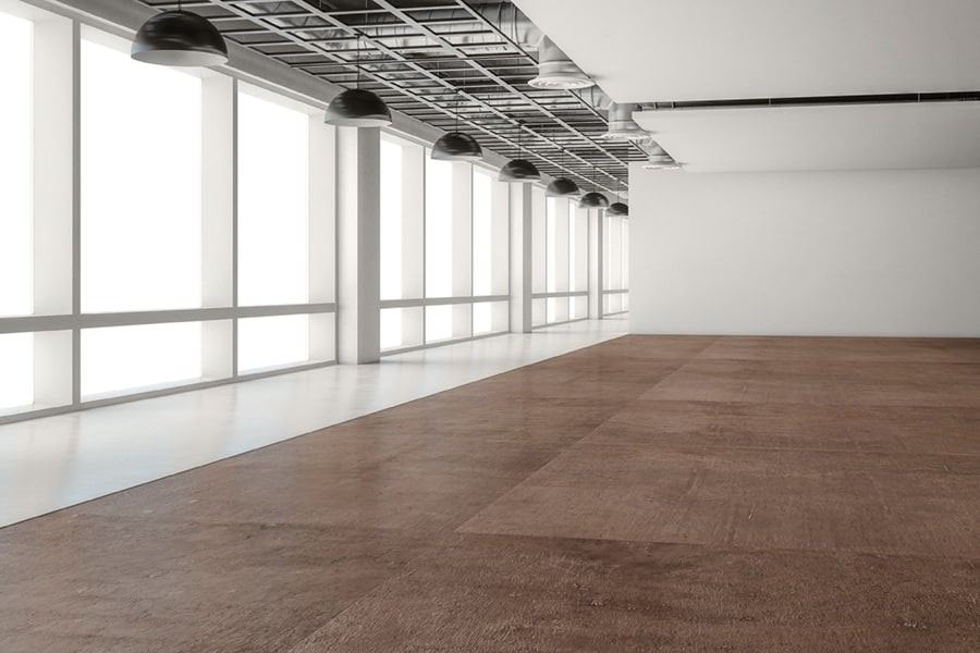 concrete floors in office